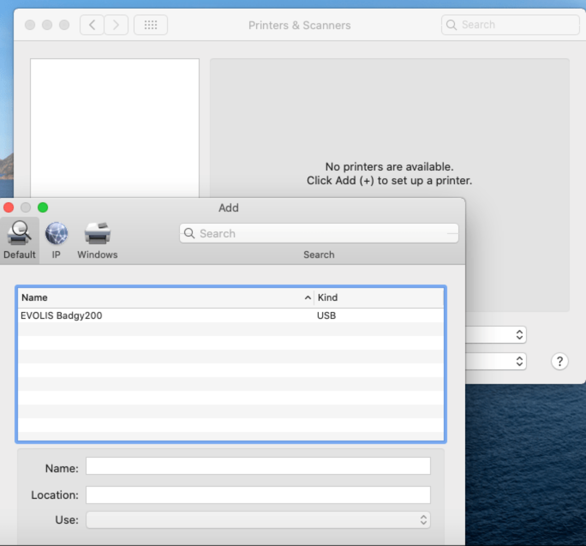 Add a new printer to the system preferences - Apple
