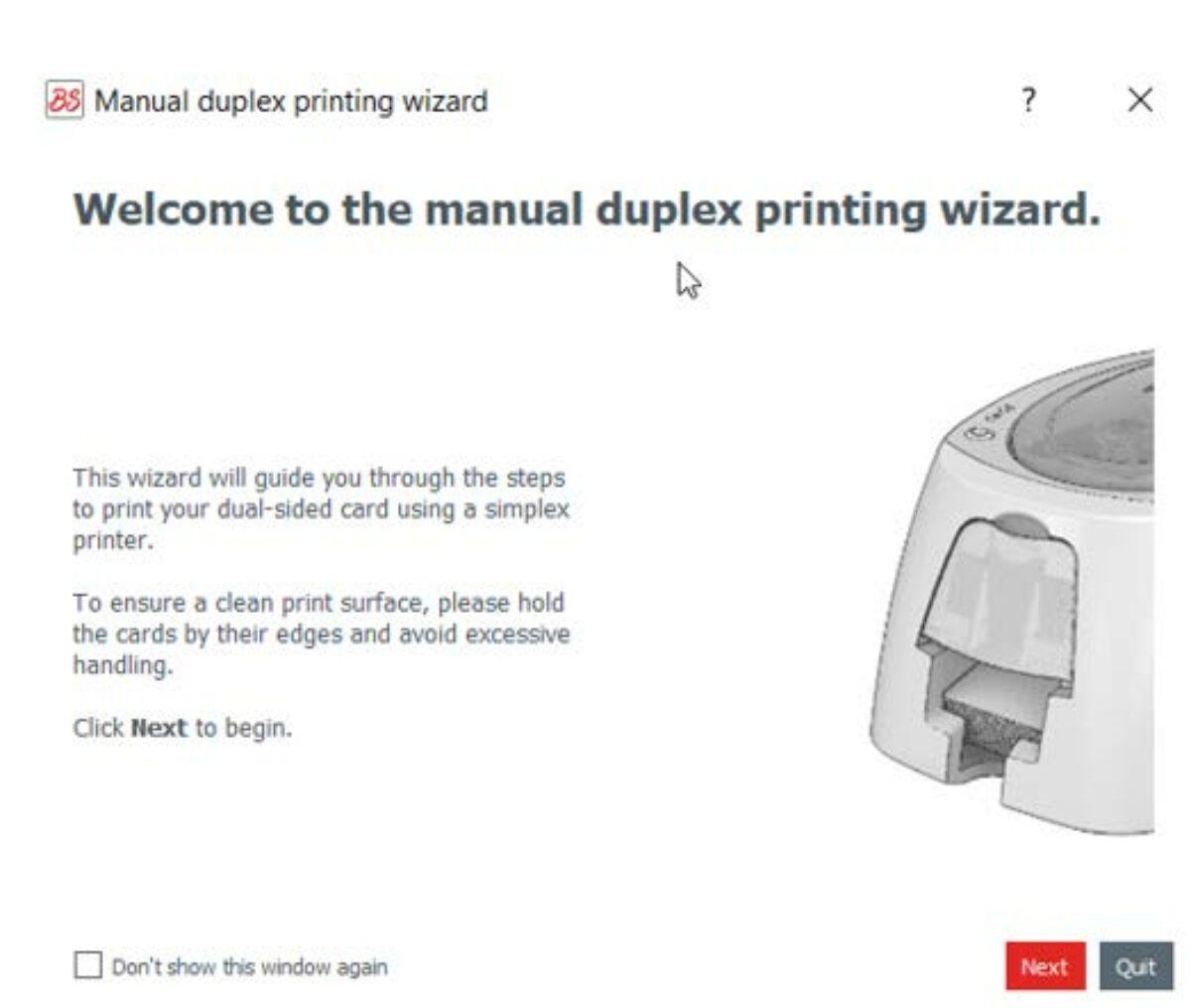 Evolis Badge Studio Printing Wizard assistant